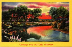 Indiana Greetings From Butler 1957