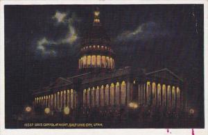 Utah Salt Lake City State Capitol Building At Night
