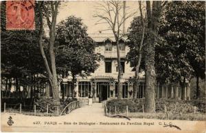 CPA PARIS 16e BOIS de BOULOGNE. Restaurant du Pavillon Royal ed. J.L.C (576910)