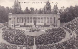 California Berkeley Greek Theatre With People University Of California Albertype