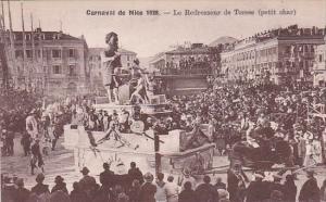 France Carnival de Nice 1928 Le Redresseur de Torses petit char