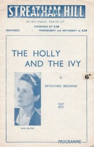 Jane Baxter Of 1935 The Gypsy Holly & The Ivy Drama Theatre Programme