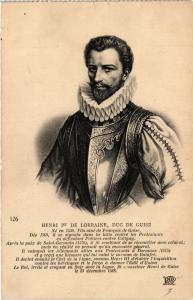 CPA Henri Ier de Lorraine, duc de Guise Royalty Nobelty (314597)