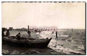Old Postcard Ouistreham Riva Bella Beach