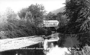 Ossipee NH Bear Camp River & Covered Bridge Eastern Illustrating Salesman Sample