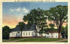 St. Mary's Church & Parochial Residence Houlton ME Unused