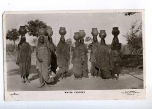 236496 SUDAN Khartoum Water carriers girl 1908 year photo RPPC