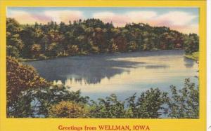Iowa Greetings From Wellman 1956