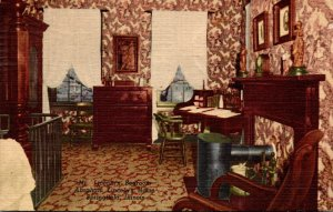 Illinois Springfield Abraham Lincoln Home Mr Lincoln's Bedroom 1957 Curt...