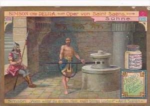 Liebig Vintage Trade Card S858 Samson &  Delilah No 5 Suehne
