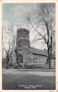 HOLGATE OHIO ST MARY'S CATHOLIC CHURCH POSTCARD 1910s