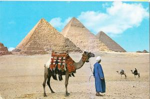 Egypt, Giza, The Pyramids, unused Postcard