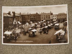 RPPC, Market Day, Bury St. Edmunds, Early 1900`s, by Valentine & Sons