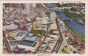 Minnesota Saint Paul Air View Of City