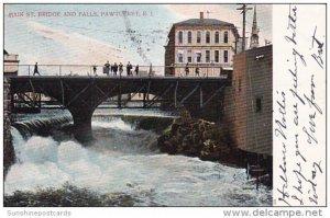 Main Street Bridge And Falls Pawtucket Rhode Island 1907