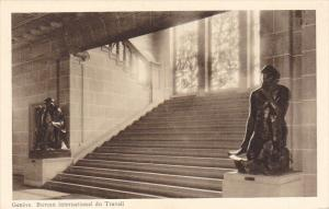 GENEVE, Switzerland, 1910-1920s; Bureau International Du Travail, Escalier Pr...