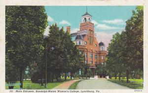 Main Entrance, Randolph-Macon Woman's College, Lynchburg, Virginia, 30-40´s