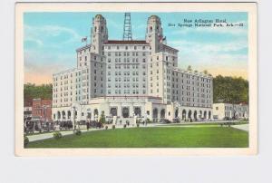 ANTIQUE POSTCARD NATIONAL STATE PARK HOT SPRINGS NEW ARLINGTON HOTEL