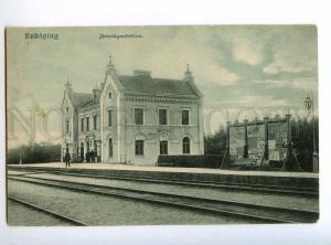 235352 SWEDEN ENKOPING railway station Vintage postcard