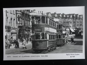 London Tram TRAMS AT CLAPHAM JUNCTION c1950 Pamlin Prin
