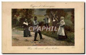 Old Postcard A wad in the woods Folk Costume Caps