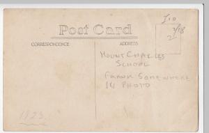 Social History; Cornwall, Mount Charles School Class Portrait RP PPC, c 1923