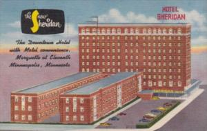 Minnesota MInneapolis The New Sheridan Hotel 1959 Curteich