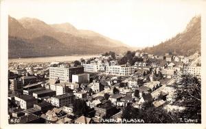 C6/ Juneau Alaska AK Real Photo RPPC Postcard c20-30s Birdseye View