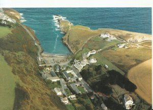 Cornwall Postcard - Aerial View of Port Gaverne Hotel - Ref 20512A