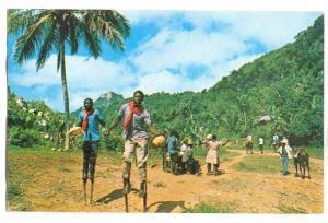 Voodoo & Stick Dancers On The Citadel, Haiti, West Indies, PU-1975