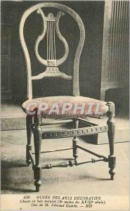 Old Postcard Musee des Arts Decoratifs chair Natural Wood Gift of Edmond M Gu...