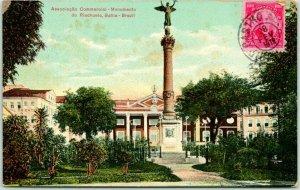 1912 Postally-Used BRAZIL Postcard Monumento do Riachuelo w/ Stamp & Cancel