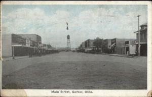 Garber OK Main St. c1910 Postcard jrf