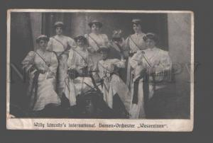 082964 WESERNIXEN Willy Lincohr's Female ORCHESTRA old PHOTO