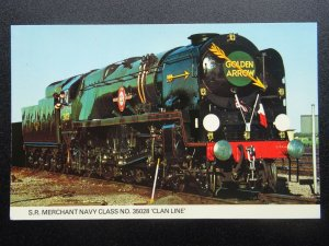 British Railways SR Merchant Navy Class LOCO No.35028 GOLDEN ARROW Old Postcard