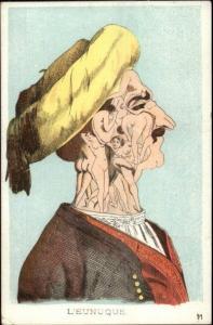 Metamorphic L'EUNUQUE - Nude Women Compose Man's Face c1910 Postcard