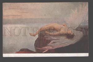 096528 NUDE Winged ANGEL Male IKARUS by KLAKACHEVA Vintage Rus