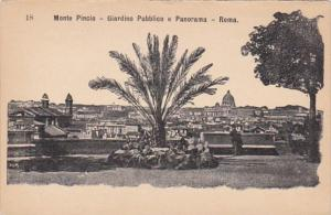 Italy Rome Monte Pincio Giardino Pubblico e Panorama