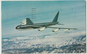 WRIGHT PATTERSON AIR FORCE BASE USAF 1959 B-52 IN flight Postcard