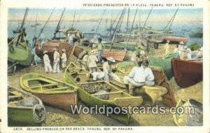 Selling Produce on the Beach Republic of Panama Unused