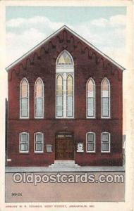 Churches Vintage Postcard Annapolis, MD, USA Vintage Postcard Asbury ME Church