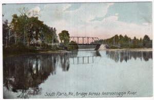 South Paris, Me, Bridge Across Androscoggin River