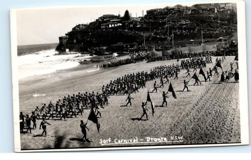 *Surf Carnival Bronte NSW New South Wales Australia Vintage Photo Postcard C42