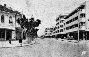 Morocco Meknes Avenue Mezergues Street Vintage Cars Postcard
