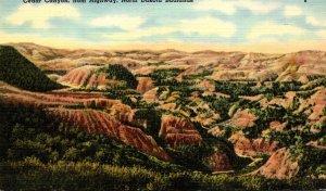 North Dakota Badlands Cedar Canyon From Highway