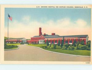 Unused Linen HOSPITAL SCENE Greenville South Carolina SC W2739