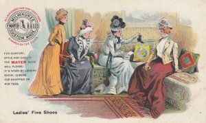 TC: MILWAUKEE , Wisconsin, 1890s ; F.MAYER Boot & Shoe Co. ; Ladies