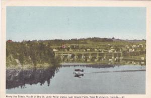 NEW BRUNSWICK, Canada, PU-1950; St.John River Valley Near Grand Falls, Monoplane