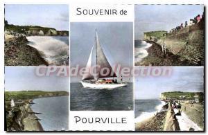 Old Postcard Souvenir De Pourville