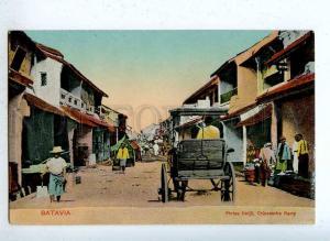 203205 INDONESIA BATAVIA Chinatown Vintage postcard